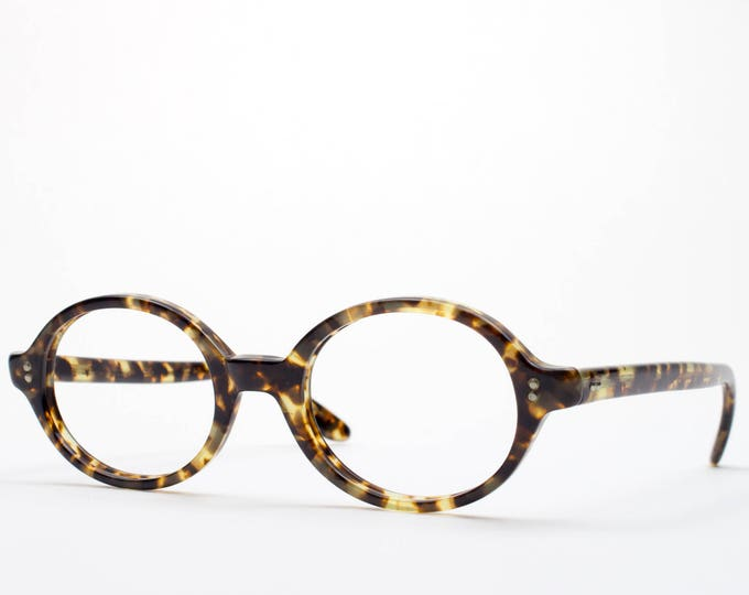 1960s Vintage Eyeglass Frame | Retro Round Eyeglasses | Tortoiseshell 60s Glasses | Swan Optical | Made in USA