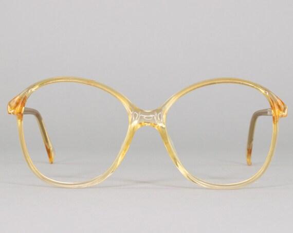 80s Glasses | Vintage Eyeglasses | Clear 1980s Eyeglass Frame | Made in Germany | Deadstock Eyewear - Mod 1001
