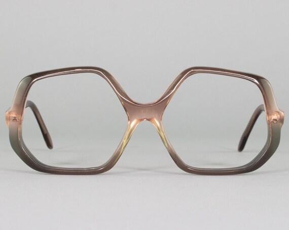 70s Glasses | Vintage Eyeglasses | Purple Ombre Glasses Frame | 1970s Aesthetic | Deadstock Eyewear - Tiffany