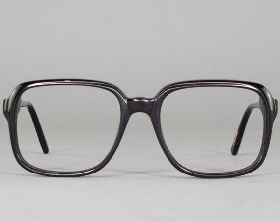 1970s Vintage Eyeglass Frame | 70s Glasses | Square Black Eyeglasses | Deadstock Eyewear - Ottawa 1