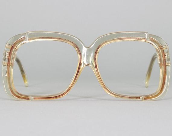 Vintage 70s Glasses | Oversized Eyeglass Frame | Clear 1970s Eyeglasses | Deadstock Eyewear - WOF50-3