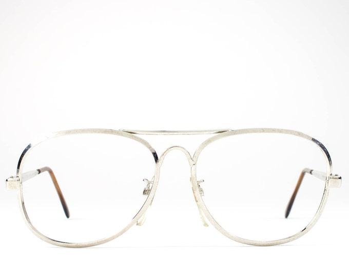 80s Vintage Eyeglasses | Aviator Glasses Frames | 1980s Eyeglasses | Silver Eyeglass Frame - Jailan