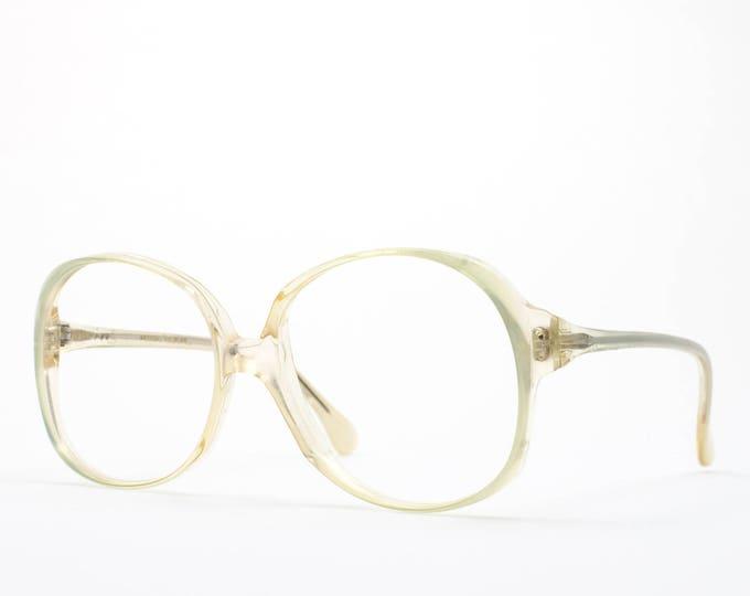 80s Vintage Glasses | Round Oversized Eyeglasses | Clear 1980s Eyeglass Frame | NOS Dead Stock Retro Skaga Glasses