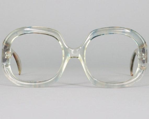 Vintage Round Eyeglasses | 70s Glasses Frame | Oversized Eyeglass Frames | 1970s Aesthetic | Deadstock Eyewear - Kim