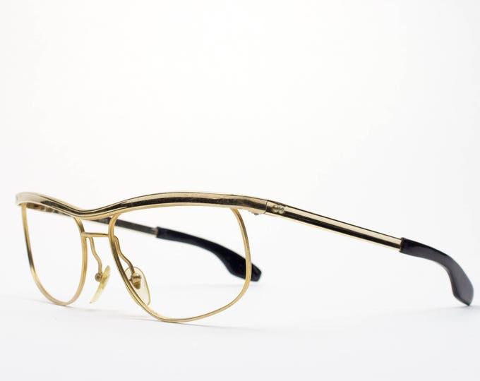 60s Vintage Eyeglasses | Retro 1960s Glasses | Gold Eyeglass Frame