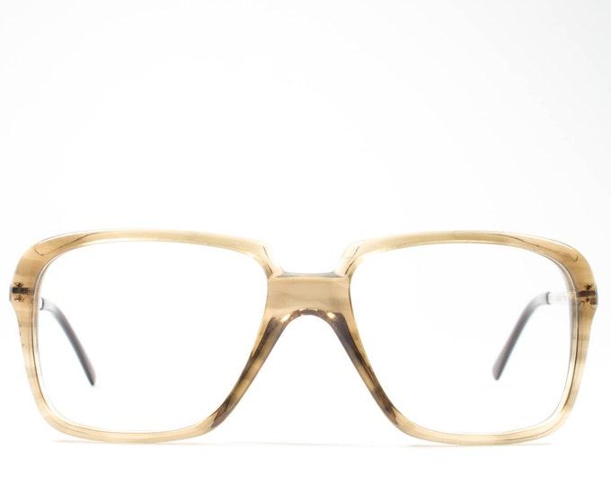 Vintage 80s Eyeglasses | Horn-rimmed Glasses | Square Eyeglasses | Made in France - 1144