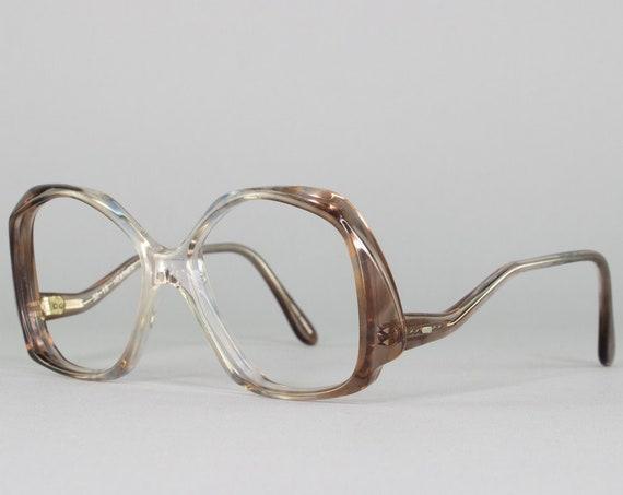 80s Glasses   1980s Vintage Eyeglasses   Oversized Eyeglass Frame   Retro Aesthetic   Deadstock Eyewear - Cloud Twin