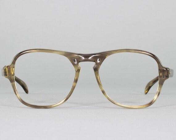 Vintage 70s Eyeglasses | Smoky Aviator Eyeglass Frame | 1970s Aviator Glasses | Made in USA | 70s Dead Stock - Pendleton