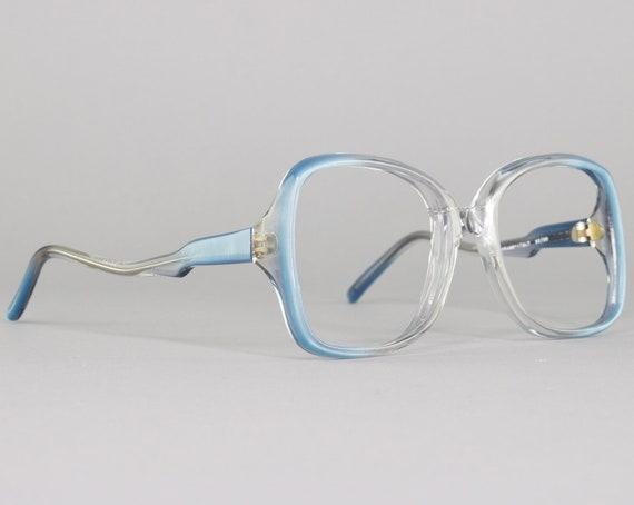 Vintage Eyeglasses | 80s Glasses | Blue Eyeglass Frame | 1980s Aesthetic | Deadstock Eyewear - Genova