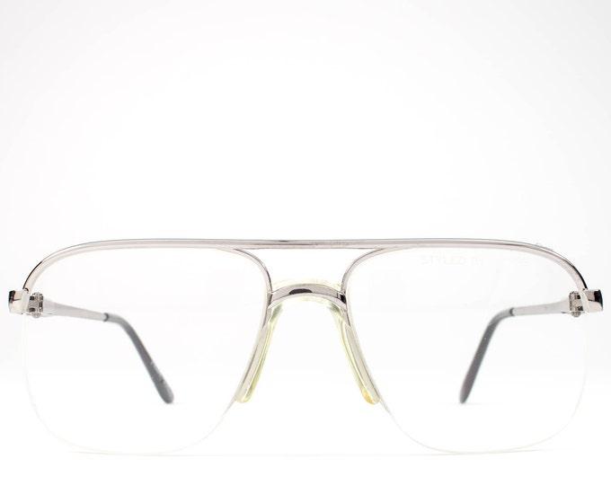 80s Vintage Eyeglasses | Aviator Glasses Frames | 1980s Eyeglasses | Silver Eyeglass Frame - NY Flex