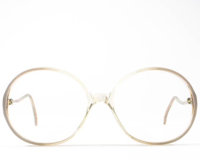 1970s Eyeglasses | 70s Glasses Frames | Vintage Eyeglasses | Round Eyeglass Frame | Clear Glasses - Rony