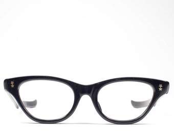 60s Cateye Eyeglasses   Victory Cateye Glasses   1960s Deadstock  Eyeglass Frame - Meow
