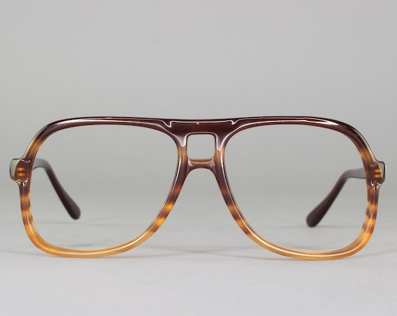 Vintage Eyeglasses | Brown Ombre Eyeglass Frame | 1970s Glasses