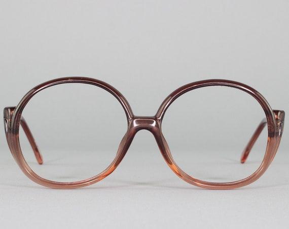 Round 70s Glasses | Vintage Oversized Eyeglasses | 1970s Eyeglass Frame | Deadstock Eyewear - Menphis