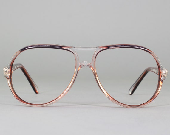 Vintage Eyeglasses | 80s Glasses | Clear Aviator Eyeglass Frame | 1980s Aesthetic - Exclusif 214