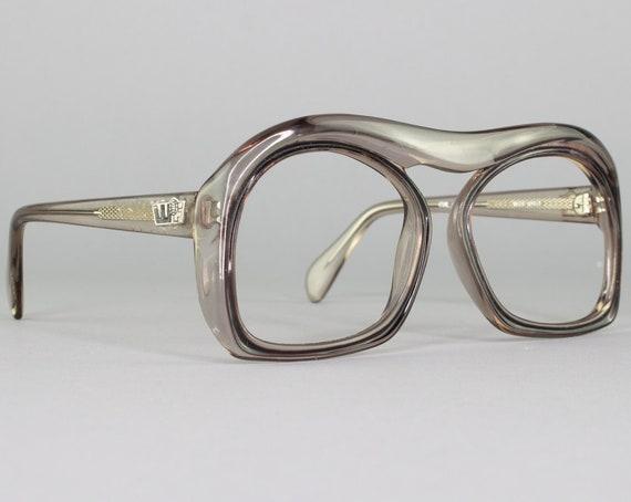 Vintage 70s Glasses | Unique Oversized Eyeglass Frame | 1970s Eyeglasses | Deadstock Eyewear - 1040-4