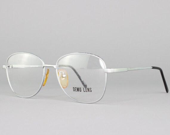 80s Glasses | Vintage Oversized Eyeglasses | 1980s Eyeglass Frame | Deadstock Eyewear