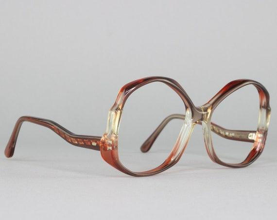 Vintage Eyeglasses | 70s Glasses | 1970s Eyeglass Frame | Round Oversized Glasses | Deadstock Eyewear - Mindy -