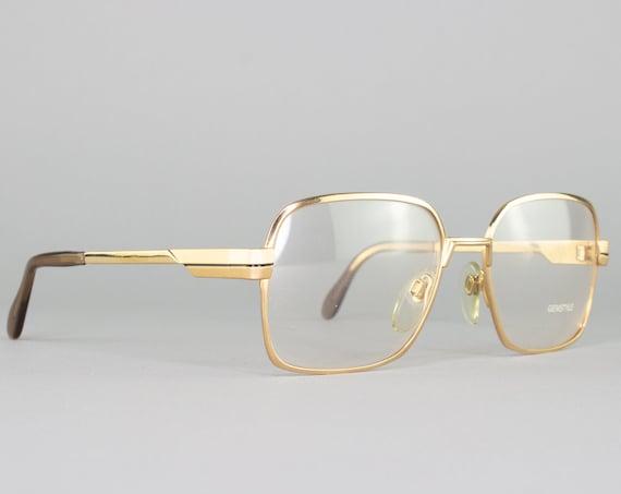 80s Glasses   Vintage Eyeglasses   Gold Eyeglass Frame   1980s Aesthetic   Made in West Germany   Vintage Deadstock - G44