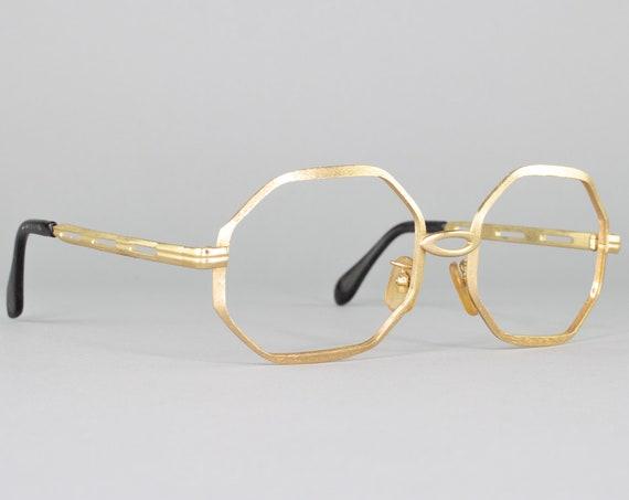 60s Vintage Eyeglasses | Octagonal Gold Eyeglass Frame | 1960s Glasses | Made in Japan | 60s Deadstock - Octo
