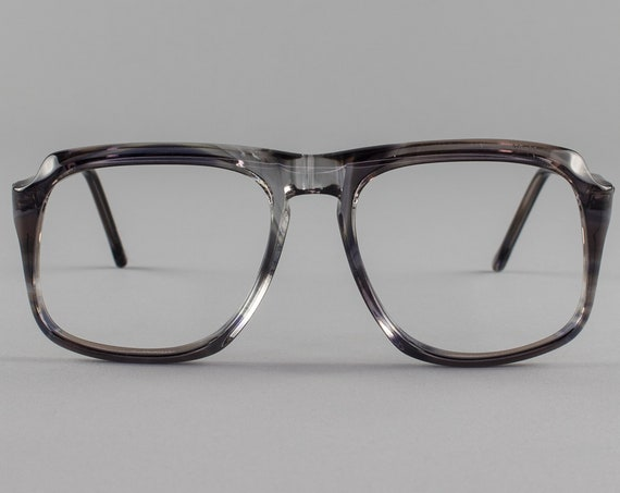 80s Vintage Glasses | Clear Smoky Gray Eyeglasses | 1980s Eyeglass Frame - Peninsula 3