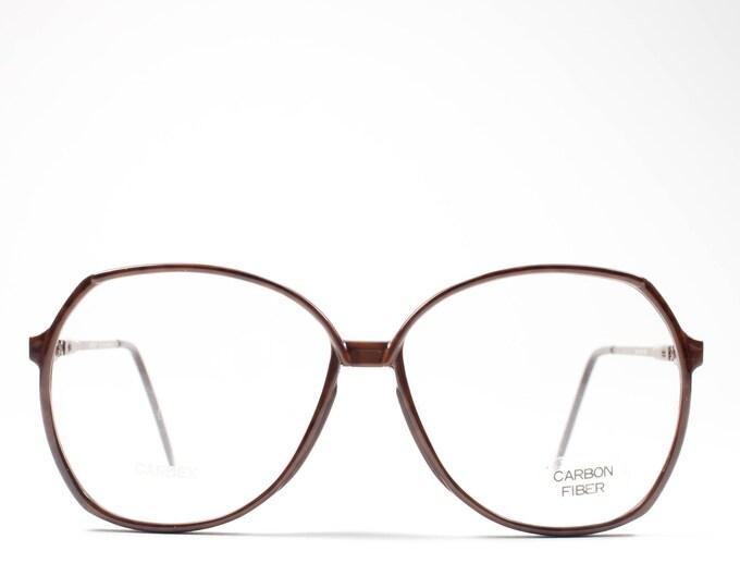 80s Eyeglasses | Oversized Vintage Glasses | Round Eyeglass Frame | 1980s Deadsrock Eyewear - Carbex 105