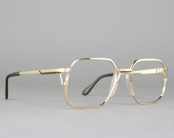 80s Glasses | Vintage Eyeglasses | Gold Eyeglass Frame | 1980s Aesthetic - Trance