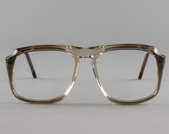 Vintage Eyeglasses | Clear Gray Eyeglass Frame | 1980s Glasses - Peninsula 2