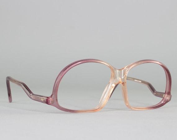 70s Vintage Eyeglasses | Deadstock 1970s Glasses | Clear Purple Glasses Frames - M20