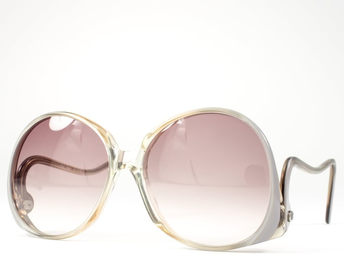 70s Glasses   1970s Vintage Eyeglasses   Oversized Glasses Frames   Seventies Deadstock Eyewear - Beverly Pearl
