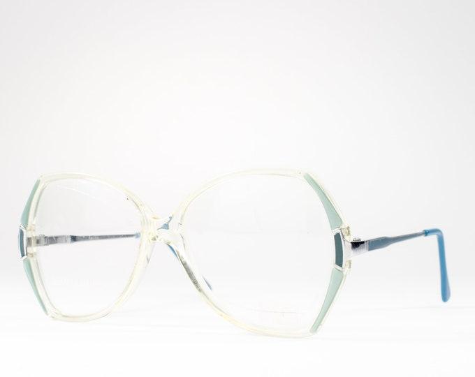 1980s Glasses | 80s Vintage Eyeglasses | Big Blue Eyeglass Frames | Eighties Deadstock Eyewear - KM-18
