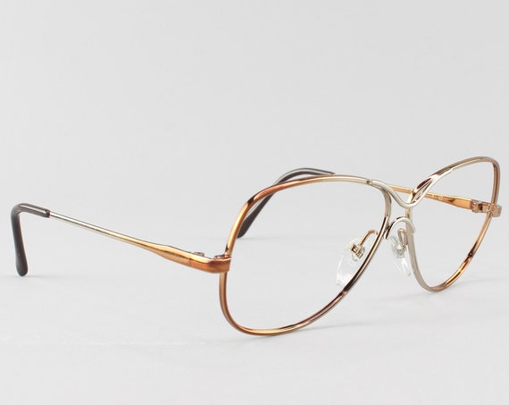 80s Eyeglasses | Vintage Glasses | Oversized Glasses Frames | 1980s Aesthetic - Love Lace Brn