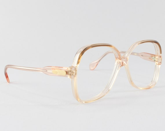 Vintage Eyeglasses | 70s Glasses | Brown Ombre Glasses Frame | 1970s Aesthetic - Lisa Brn