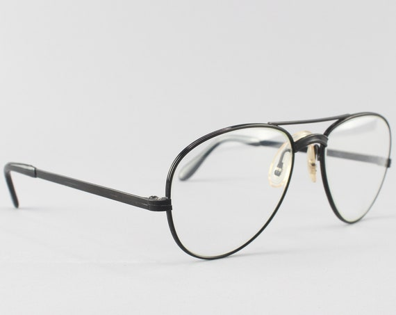 Vintage Eyeglasses | Vintage Glasses Frame | 80s Eyeglass Frames - Photo Black