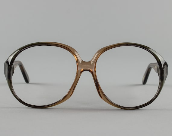 Vintage Glasses | Oversized Eyeglass Frame | Clear Eyeglasses - Atlanta Brown