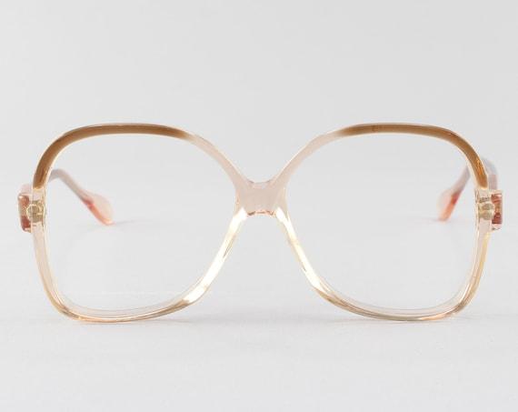 Vintage Eyeglasses | 70s Glasses | Brown Ombre Glasses Frame | 1970s Aesthetic | Vintage Deadstock - Lisa Brn