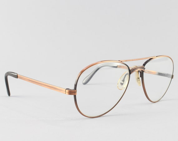 Vintage Eyeglasses | Vintage Glasses Frame | 80s Eyeglass Frames - Photo Bronze