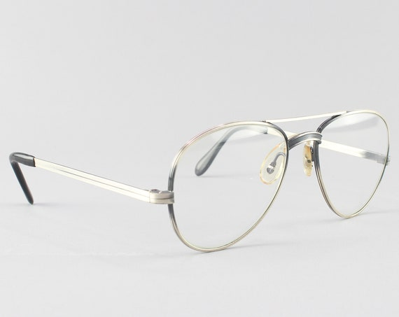Vintage Glasses Frame | Vintage Eyeglasses | 80s Eyeglass Frames - Photo Gray