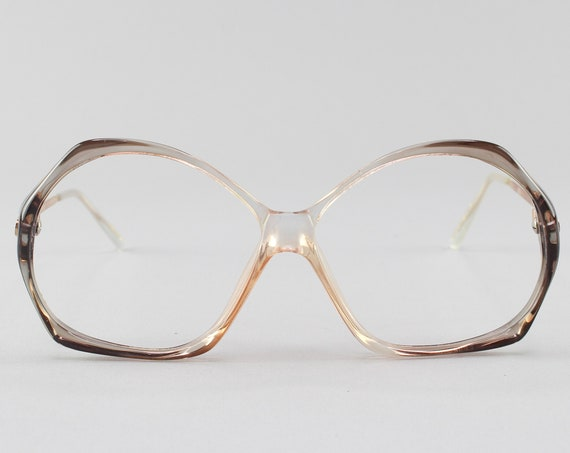 Vintage Glasses | Round 80s Eyeglass Frame | Grey and Pink Ombre Eyeglasses - Veracruz 2
