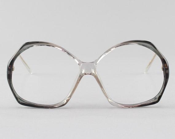 Vintage Glasses | Round 80s Eyeglasses | Gray Eyeglass Frame | 1980s Aesthetic - Veracruz No. 3