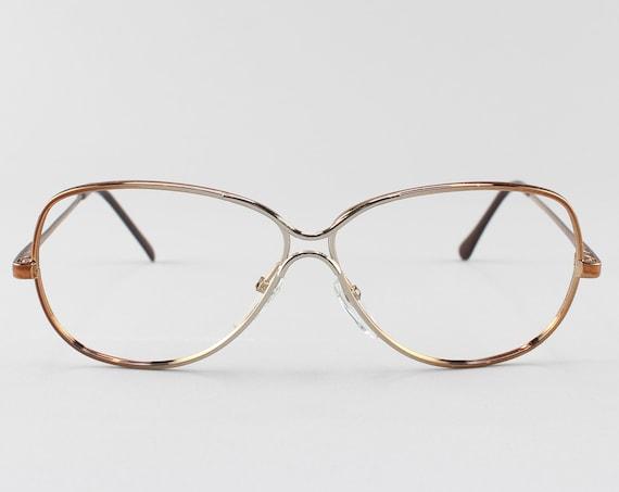 80s Eyeglasses | Copper Vintage Glasses | Oversized Glasses Frames | 1980s Aesthetic | Vintage Deadstock - Love Lace Brn