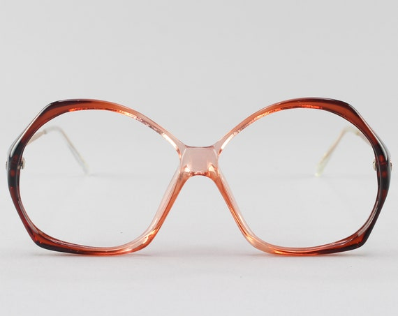 Vintage Glasses | Round 80s Eyeglasses | Pink Eyeglass Frame | 1980s Aesthetic - Veracruz No. 1