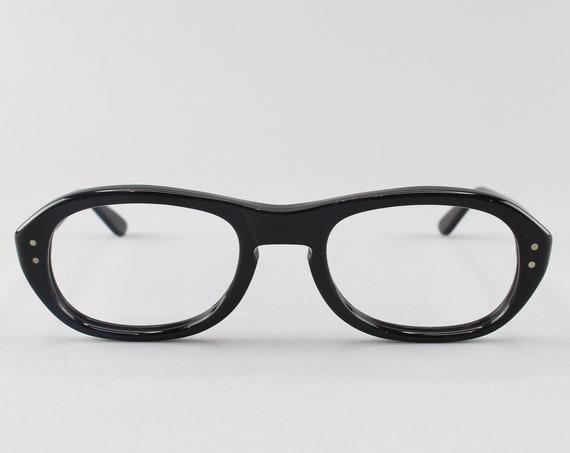 60s Eyeglasses | Vintage Glasses | 1960s Eyeglass Frame | Black Frames