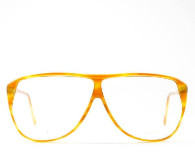 80s Glasses Frames | Vintage Eyeglasses | Oversize Aviator Glasses | Tortoise Horn Rimmed Aviator Frames |  1980s Eyeglasses - SV 591