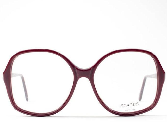 Vintage Eyeglasses | 80s Glasses Frames | Oversized Eyeglasses | Round Glasses | Clear Lenses - Status 146