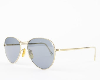 Vintage 60s Aviator Sunglasses | Gold Frame | Grey Glass Lenses - 306 XX