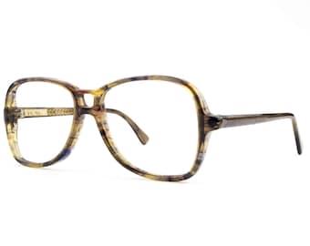 70s Vintage Aviator Eyeglasses   Clear Brown Aviator Glasses   NOS 1970s Aviator Eyeglass Frame - Taurus