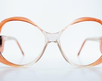 Vintage Eyeglasses | 80s Glasses | Retro Eyeglass Frame - Miami Wine Fade