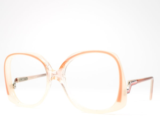 1980s Vintage Eyeglasses | Big Glasses | 80s Oversized Glasses Frames | Cool Enamel Details - Biscayne 2