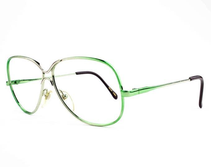 80s Glasses | Vintage Hipster Glasses | Green Eyeglass Frames  - Love Lace Grn